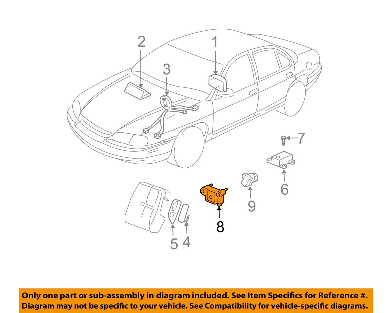 chevrolet gm oem monte carlo airbag air bag srs front impact chevrolet gm oem monte carlo airbag air bag srs front impact sensor 10305724