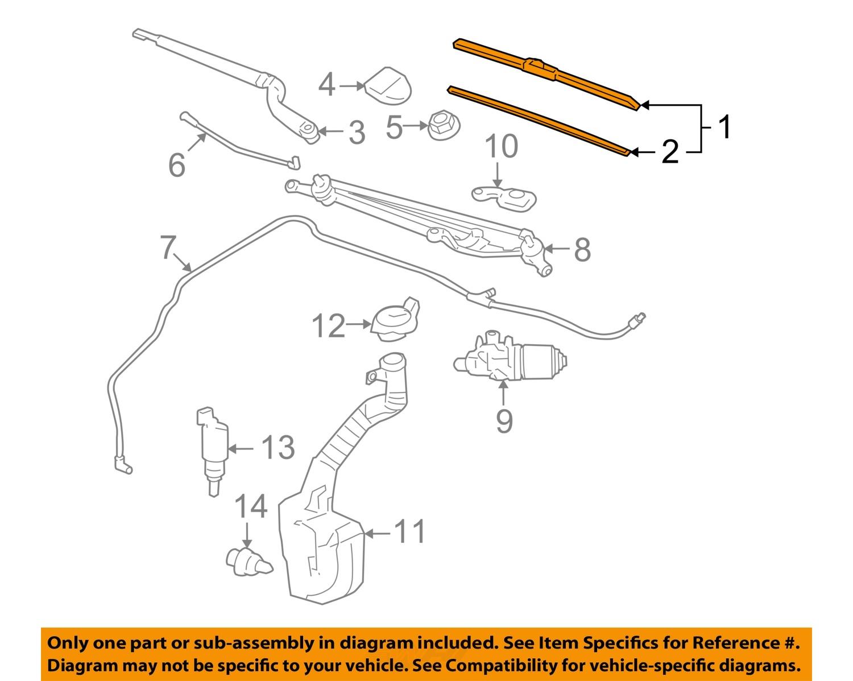 Chevrolet Gm Oem 06 07 Monte Carlo Wiper Blade 15941737 Ebay