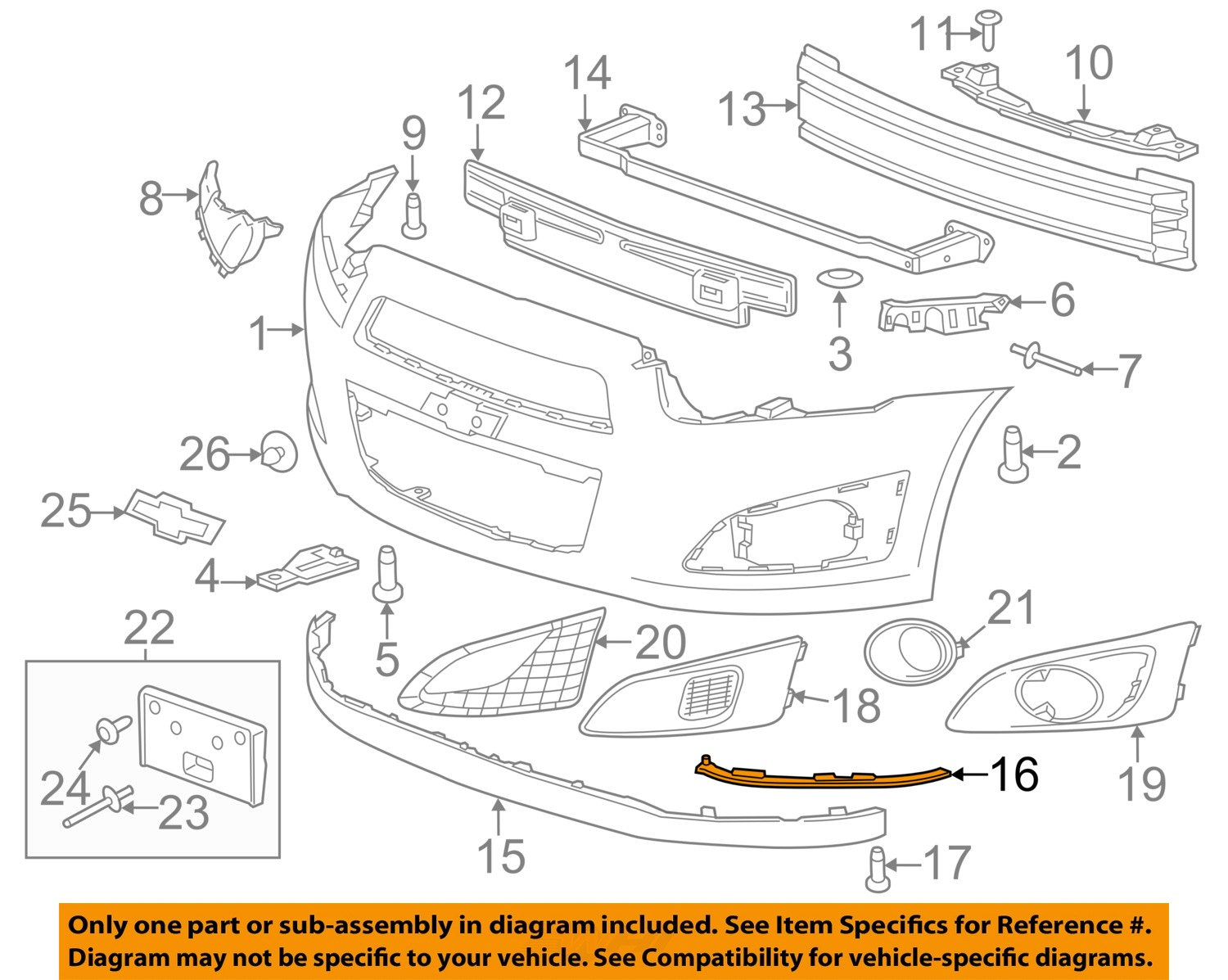 Chevrolet Gm Oem Front Bumper Grille Grill Lower Deflector