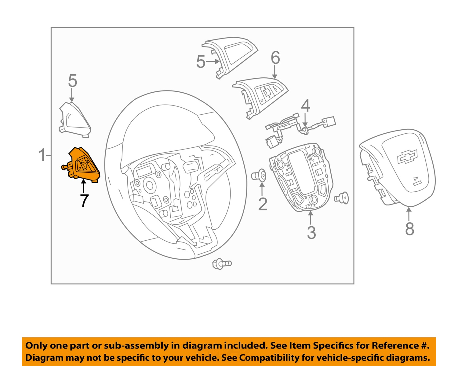 Purchase Chevrolet Gm Oem 12 15 Sonic Cruise Control Switch 95135255 Diagram