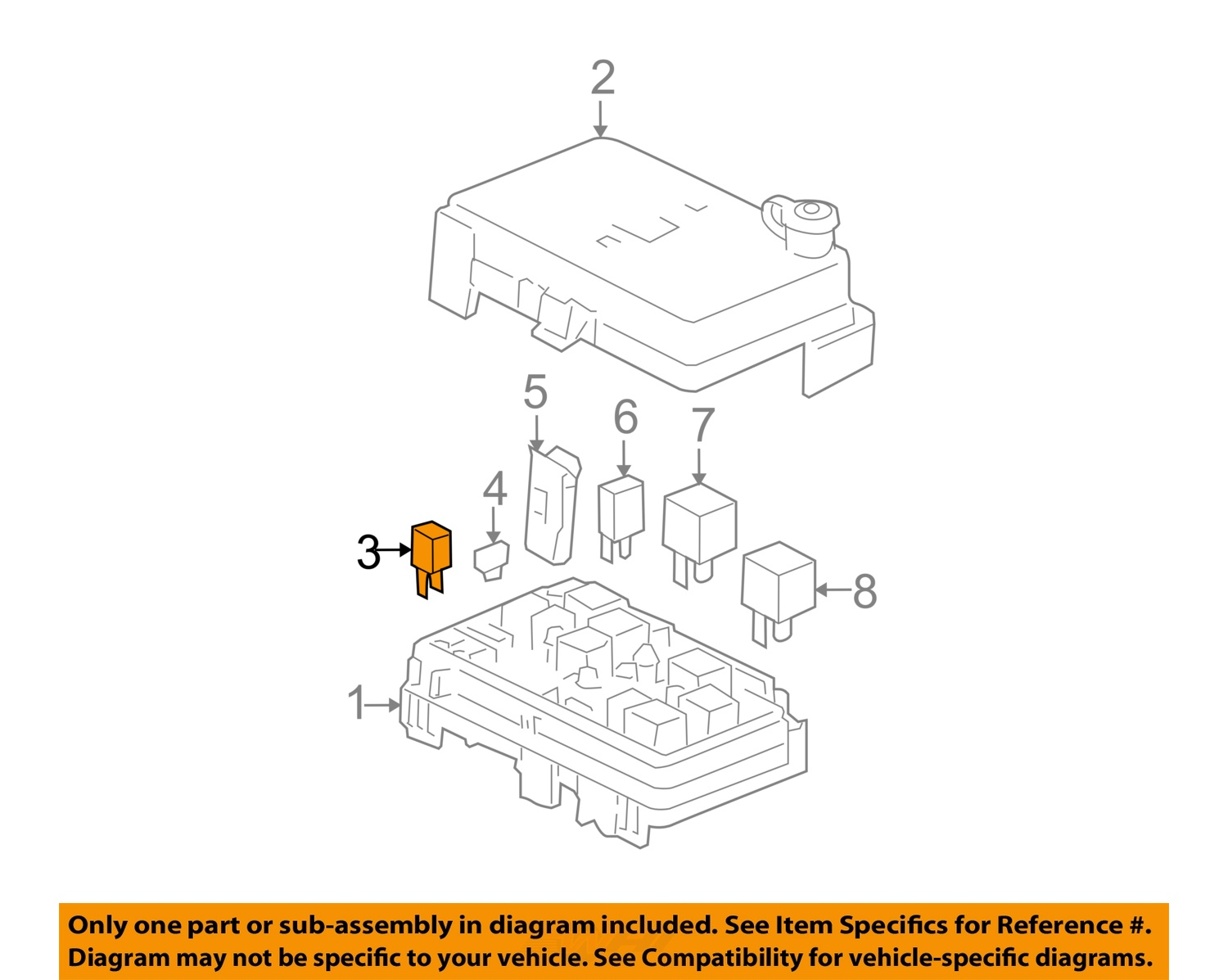 Buy Gm Oem Fuse 88909751 Motorcycle In Clayton Georgia United Box Diagram Mercedes W108