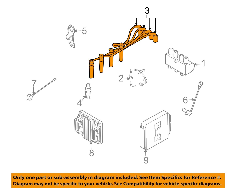 chevrolet gm oem 04 11 aveo ignition spark plug wire or. Black Bedroom Furniture Sets. Home Design Ideas