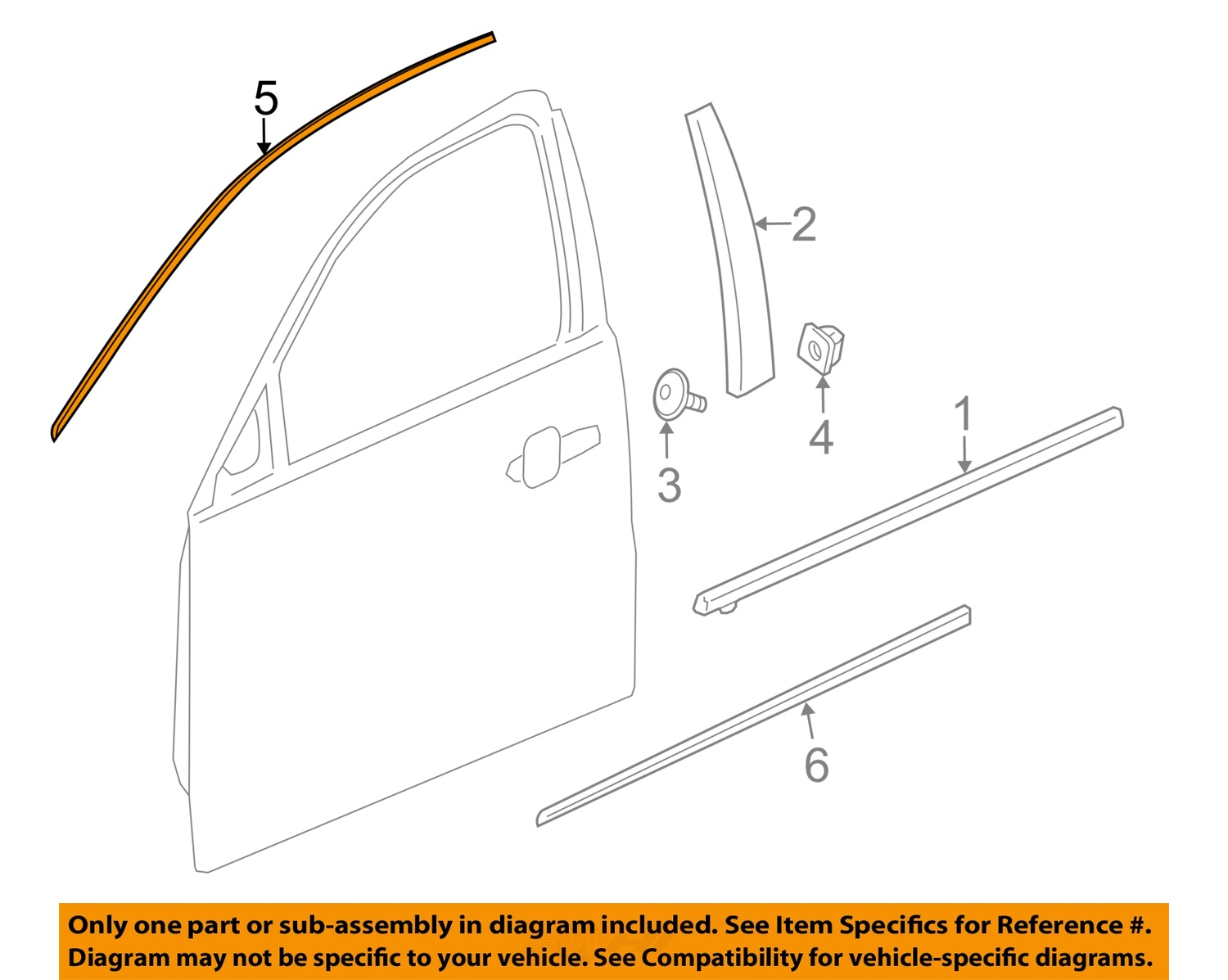 Chevrolet Gm Oem 13 16 Malibu Front Door Reveal Molding