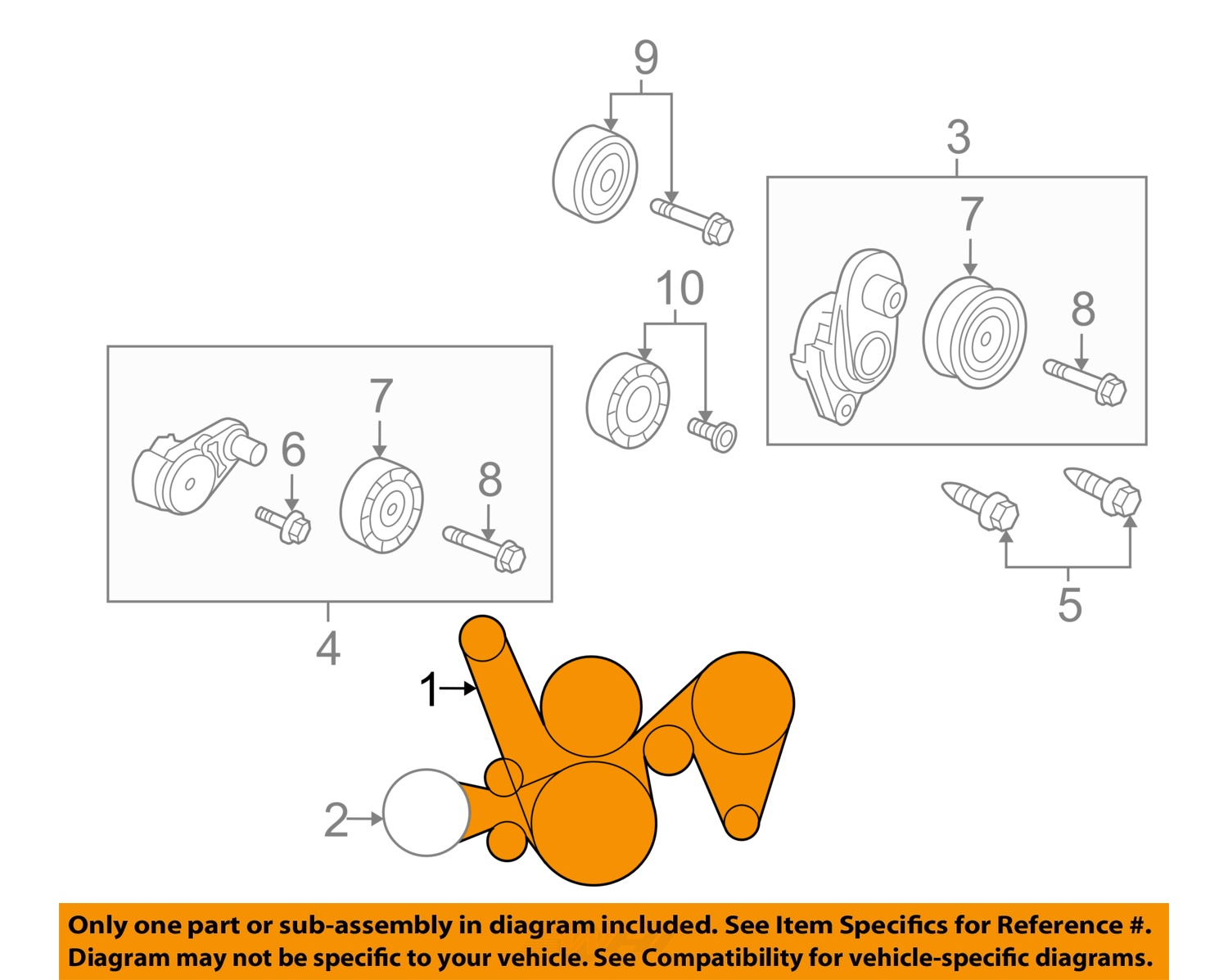 pontiac gm oem 2006 gto 6.0l-v8-serpentine drive fan belt ... 2006 pontiac gto belt diagram
