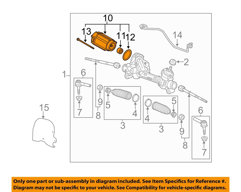 gm oem steering gear electric power steering motor Power Steering System Diagrams FJ10305 10Full