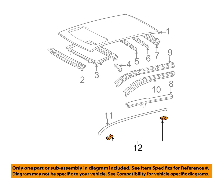 pontiac gm oem 03 08 vibe roof drip molding clip 88972816. Black Bedroom Furniture Sets. Home Design Ideas