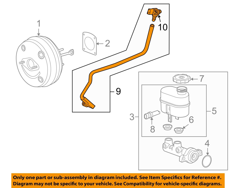 2014-2017 silverado sierra 1500 brake booster vacuum hose pipe new gm #  23135228 2 2 of 3