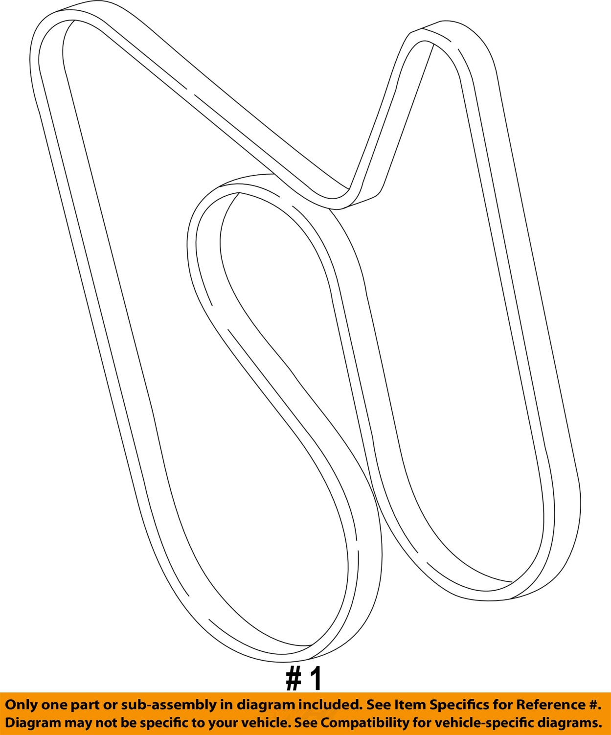 GM OEM-Serpentine Drive Fan Belt 12637204