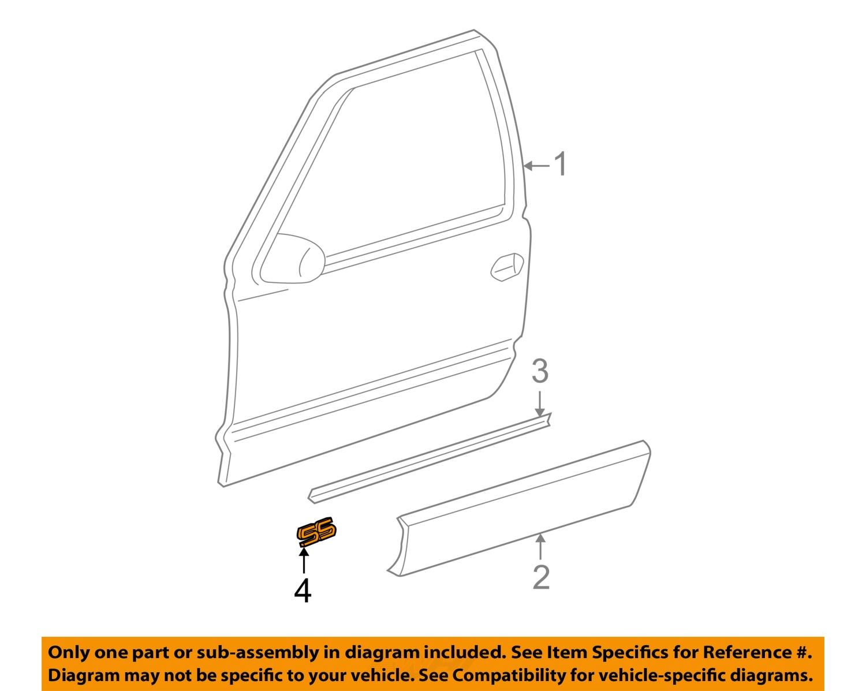 Chevrolet gm oem 03 06 silverado 1500 front door emblem for 03 silverado door panel
