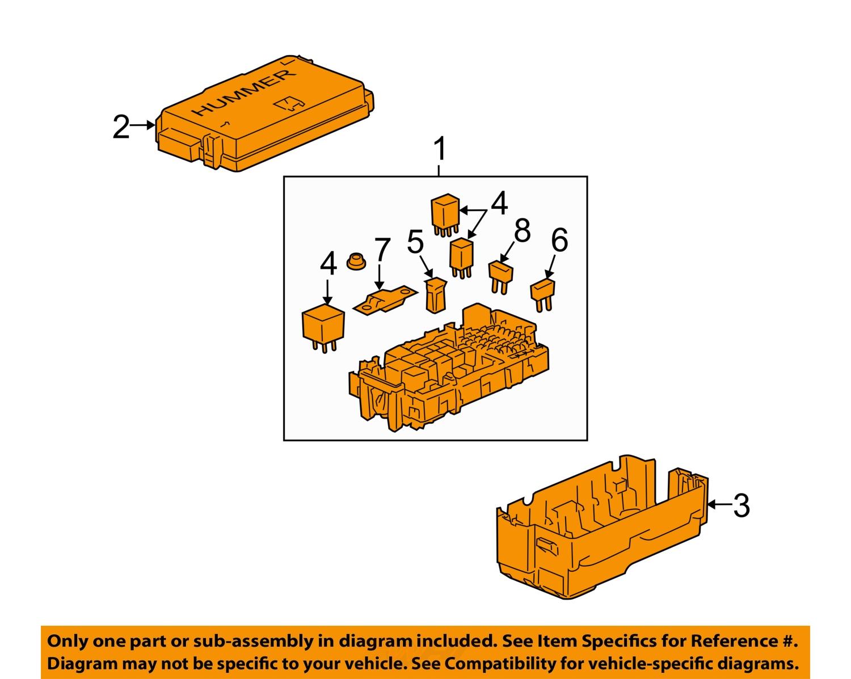hummer gm oem 2007 h3 3 7l l5 fuse box fuse relay box. Black Bedroom Furniture Sets. Home Design Ideas