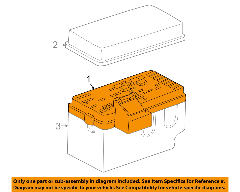 saturn gm oem 2000 ls2 fuse box 15358341 ebay. Black Bedroom Furniture Sets. Home Design Ideas