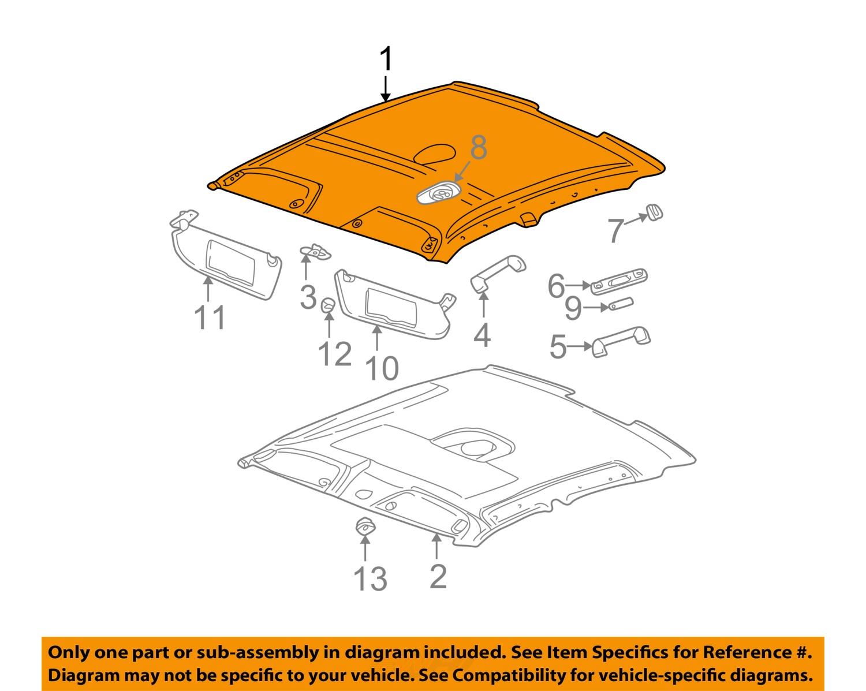saturn gm oem 2002 l200 interior roof headliner 22688950. Black Bedroom Furniture Sets. Home Design Ideas
