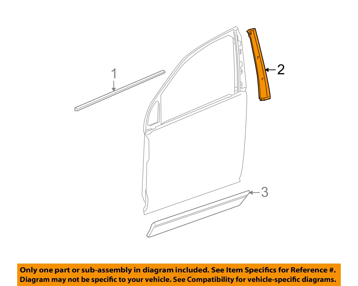 Saturn Gm Oem 02 07 Vue Front Door Applique Window Trim