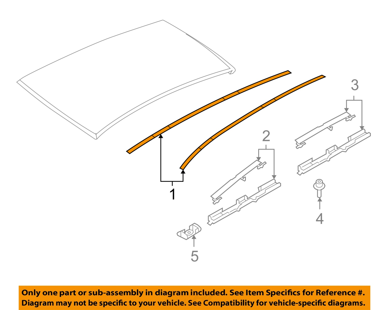 saturn gm oem 2008 astra roof molding right 13125678 ebay. Black Bedroom Furniture Sets. Home Design Ideas
