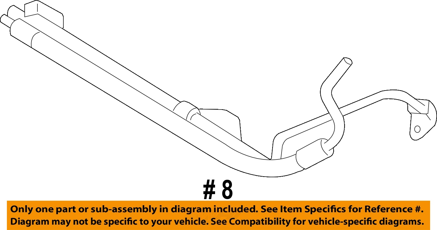 Ford 07 08 Mustang Power Steering Pressure Hose 7r3z3a719c
