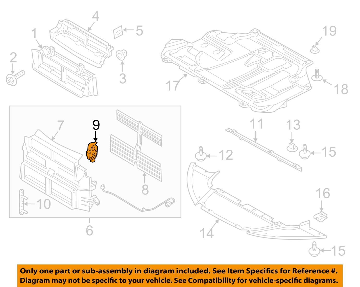 Sell Ford Oem Splash Shields Radiator Support Actuator Cm5z10884a 3415 Wiring Diagram