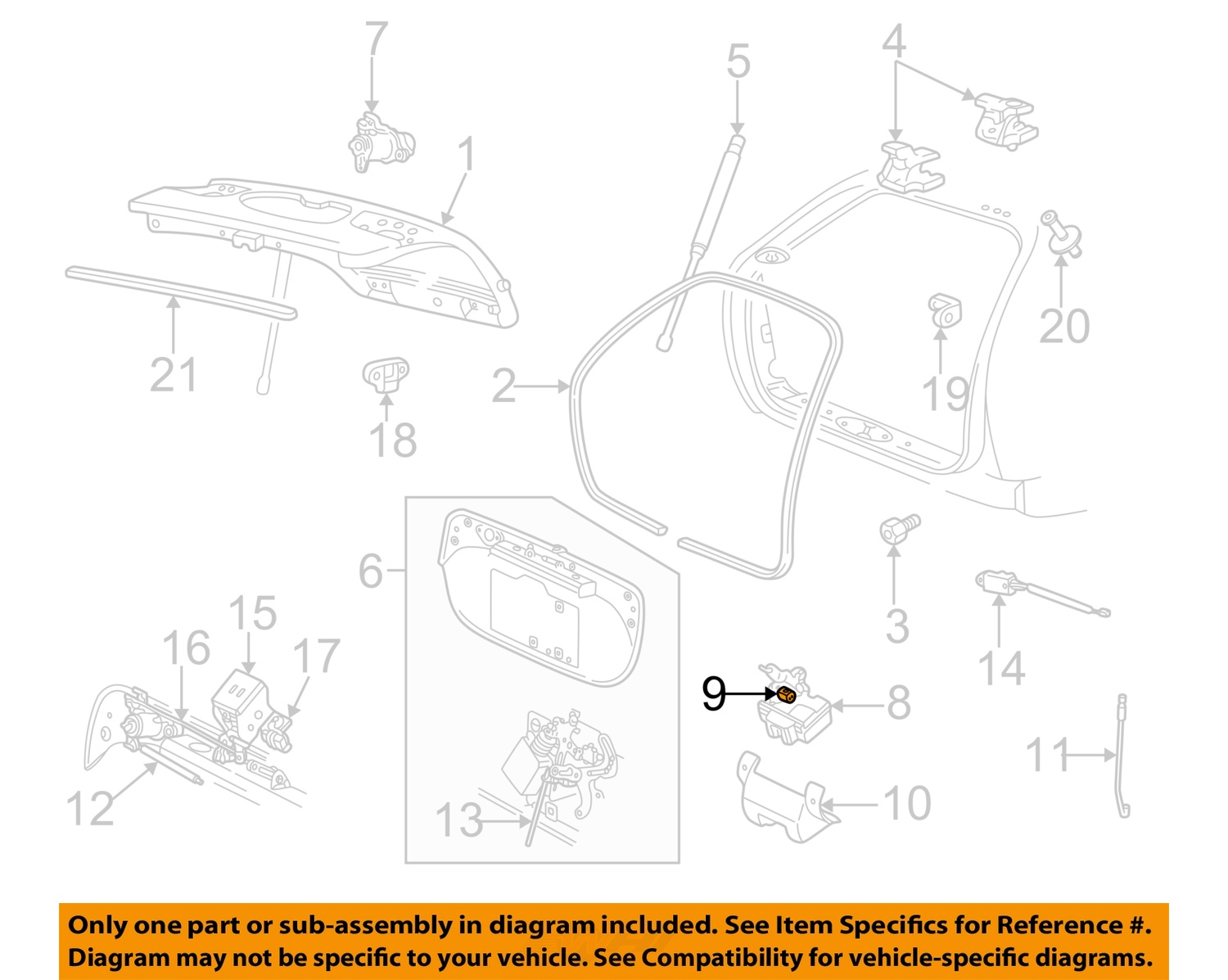 Ford Oem Liftgate Tailgate