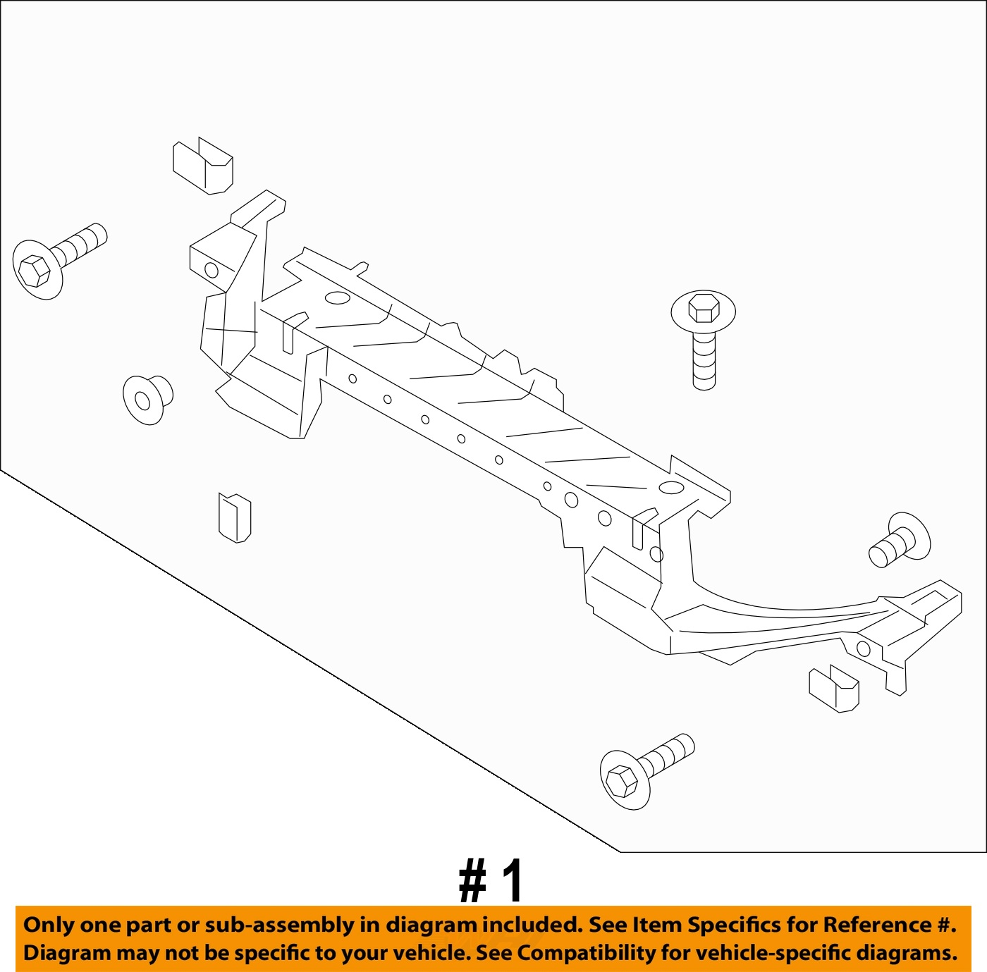Ford Fusion Radiator Diagram Wiring Diagrams 2008 Engine Oem 13 16 Core Support Mount Panel