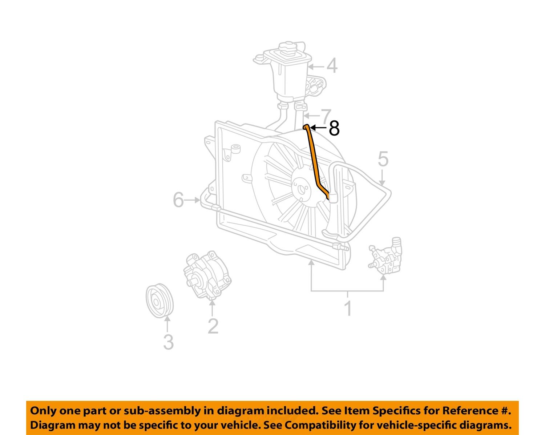 New Oem Hydraulic Fan Pump Hose 2000