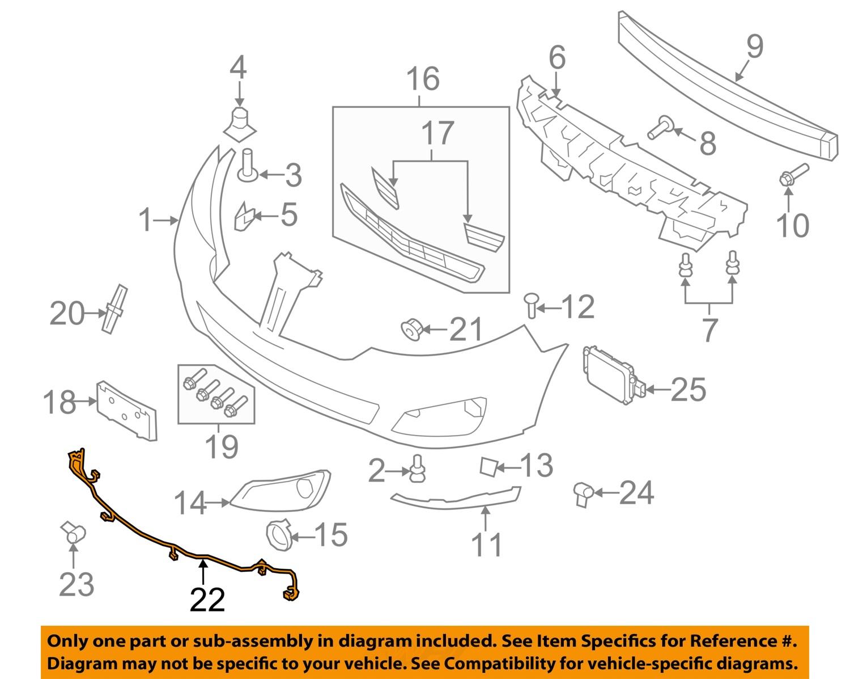 lincoln ford oem 10 12 mks front bumper wire harness. Black Bedroom Furniture Sets. Home Design Ideas