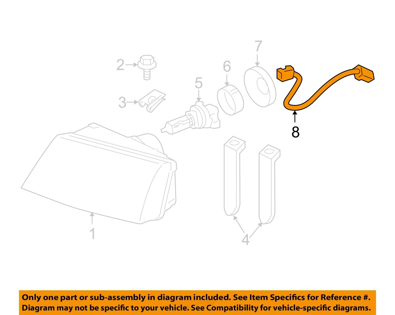 mercury ford oem headlight light l socket wire 3w3z13076aa ebay