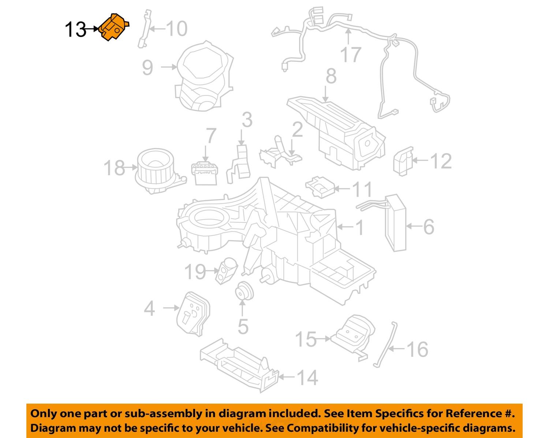 Ford Motorcraft Yh1893 Oem Evaporator Heater Mode Motor