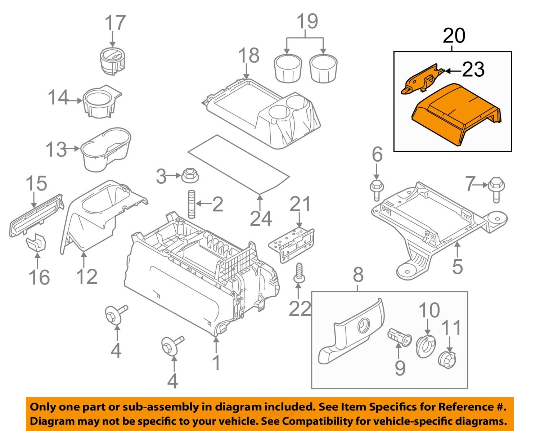 New Oem Center Console Storage Box Lid 2011 13 Ford F150 W Steel Gray Interior Ebay