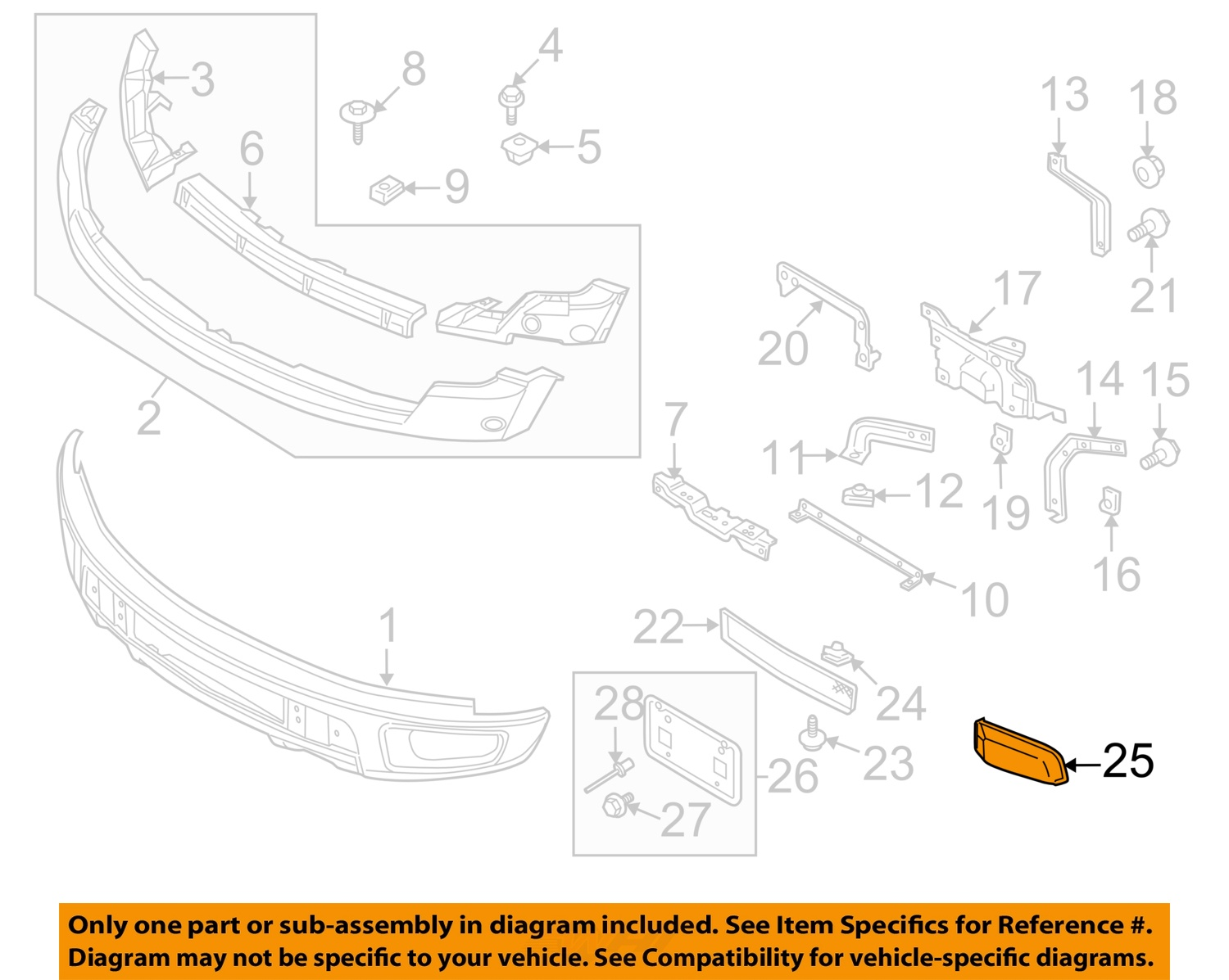 ford oem 10-14 f-150 front bumper-side cover right al3z17e810a toyota camry front bumper diagram #3