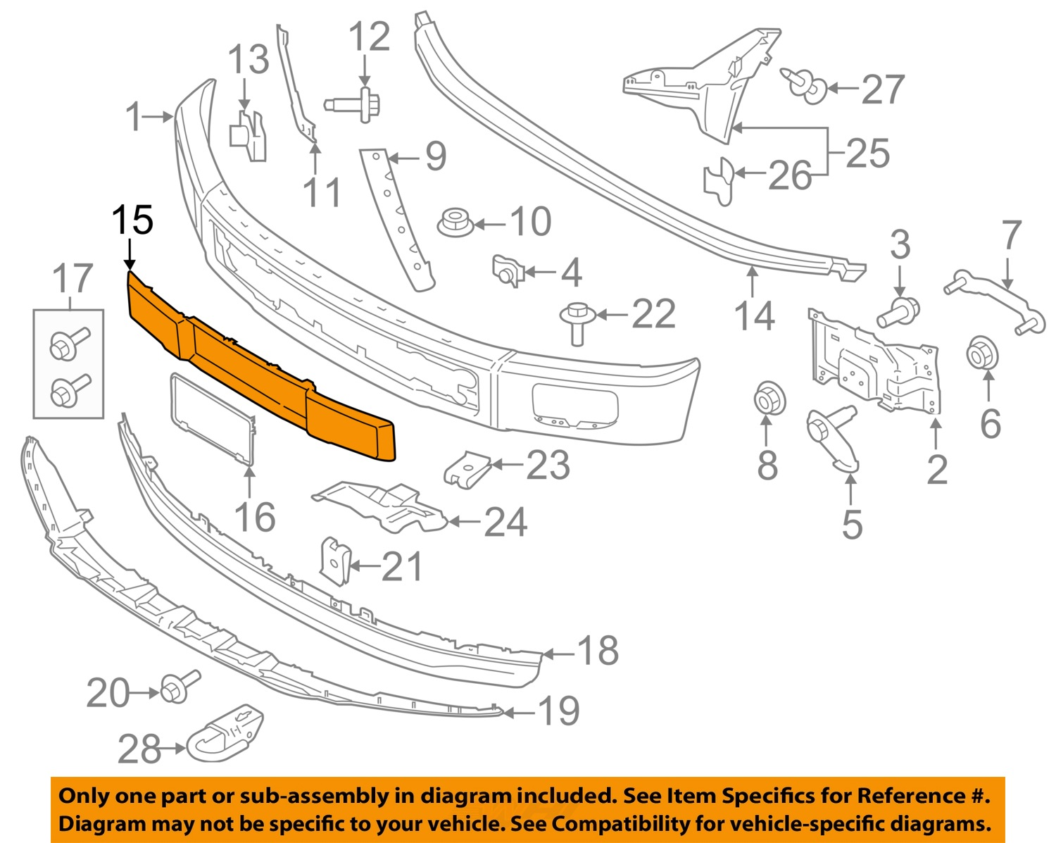 ford oem 15-16 f-150 front bumper-trim panel fl3z17e810ba ... to start on ford f 150 ignition solenoid diagram ford f 150 oem parts diagram