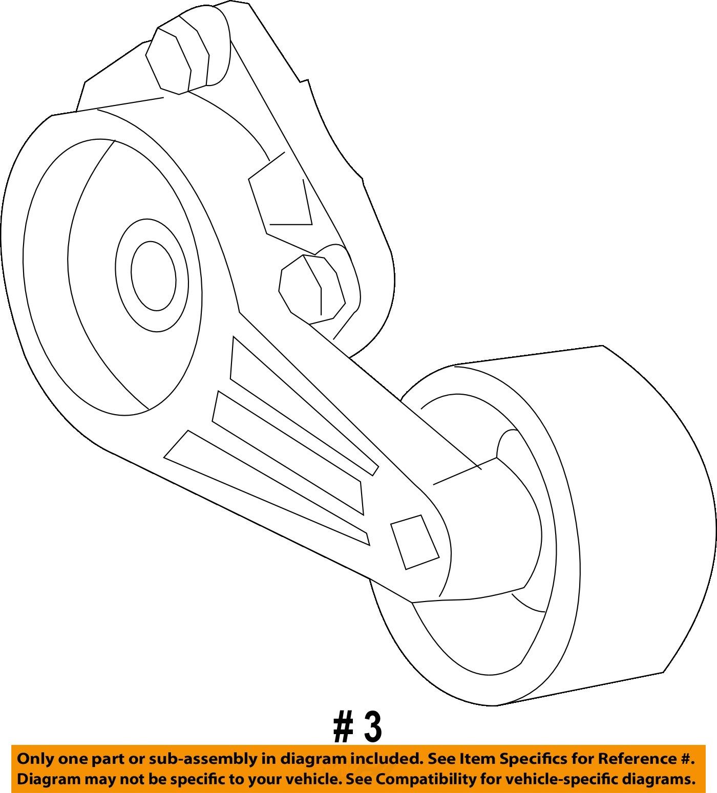 ford oem 99 03 f 150 5 4l v8 belt tensioner assembly. Black Bedroom Furniture Sets. Home Design Ideas