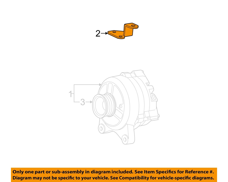 details about ford oem 97-03 f-150 4 2l-v6-alternator bracket 1l3z10a313aa