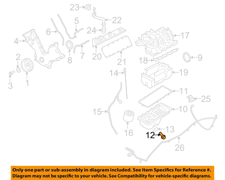 Ford Engine Oil Drain Plug Part Number F75Z6730BA