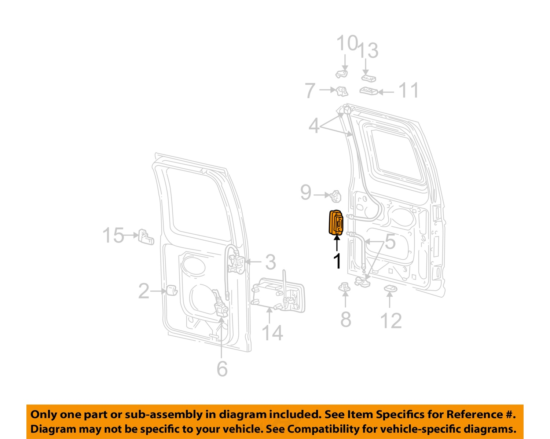 Ford E 150 Parts Diagram Ford Econoline Van Parts Catalog
