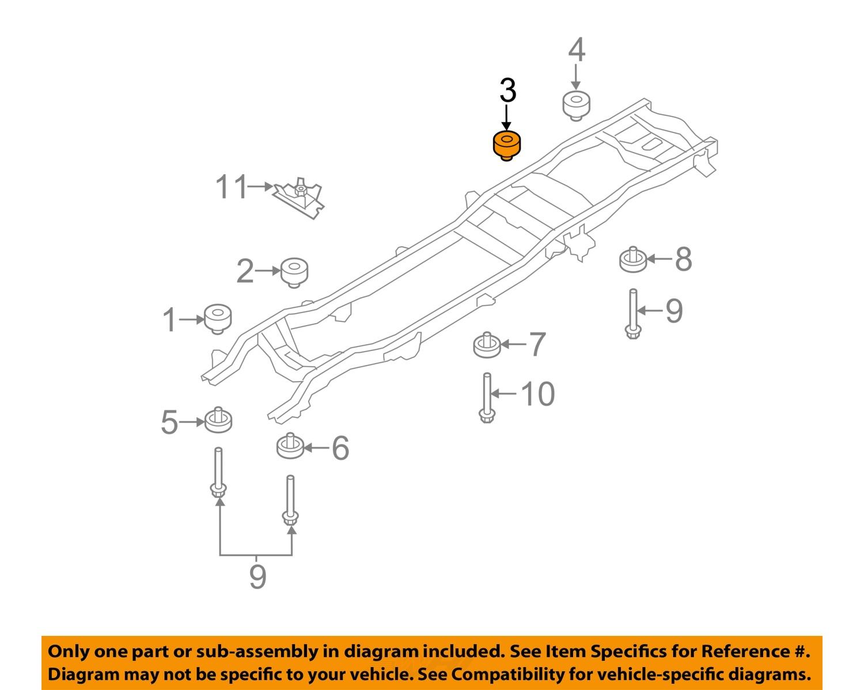 ford oem 05 16 f 350 super duty frame upper insulator. Black Bedroom Furniture Sets. Home Design Ideas
