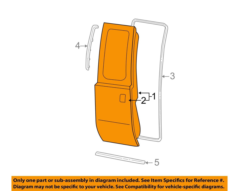 Ford Oem 99 07 F 250 Super Duty Rear Door Shell Frame