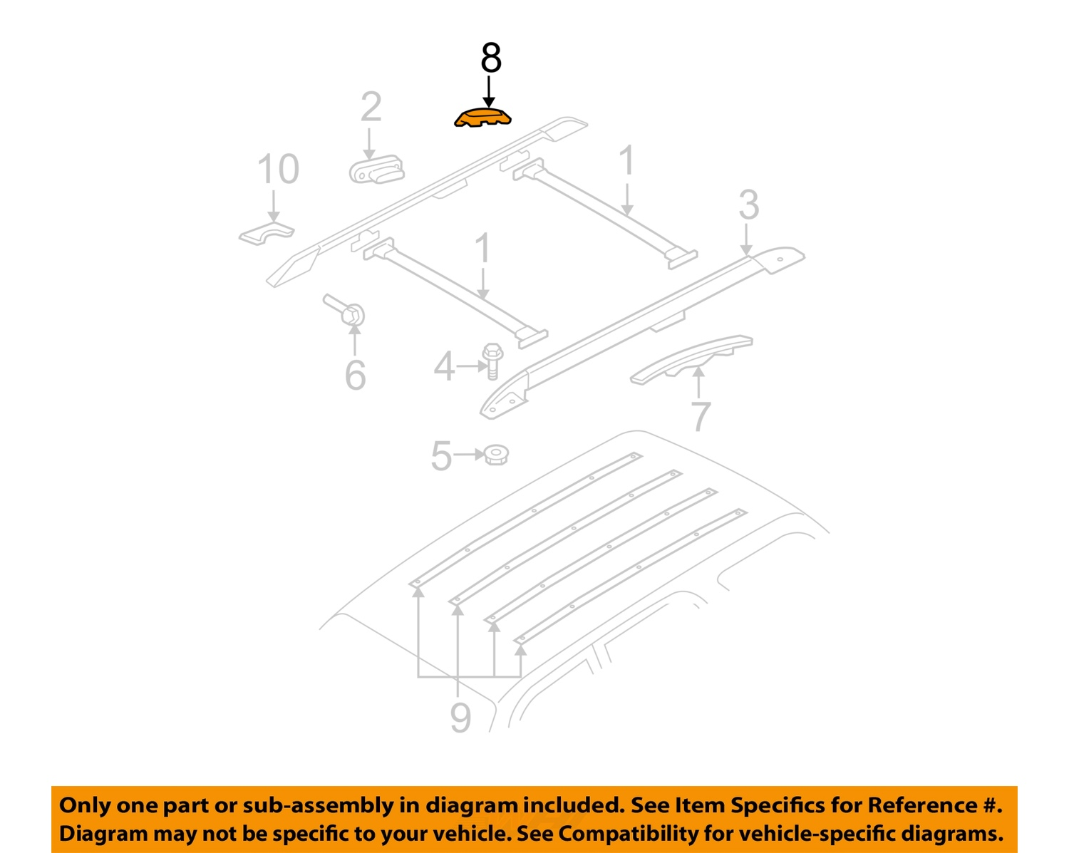 2004 Mercury Mountaineer Parts Diagram Roof Rack  Mercury