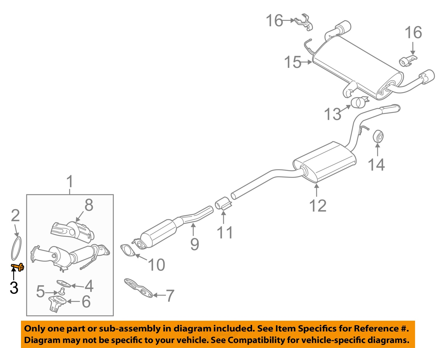 Ford Oem Transit Connect Exhaust System