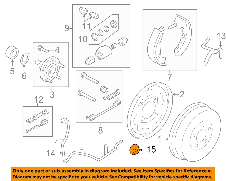 Purchase Ford Oem Abs Anti Lock Brakes Front Sensor Ring Al8z2c182a Diagram