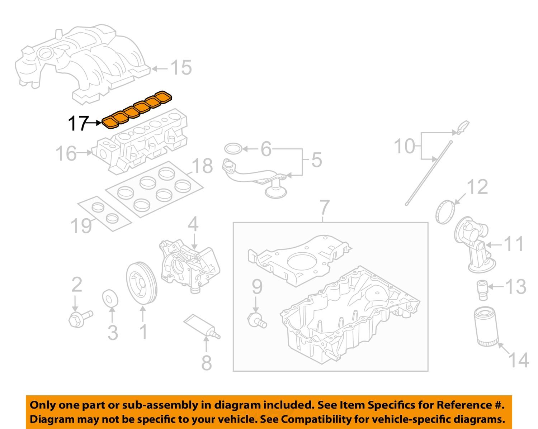 ford oem engine intake manifold gasket 7t4z9h486da ford oem engine intake manifold gasket 7t4z9h486da
