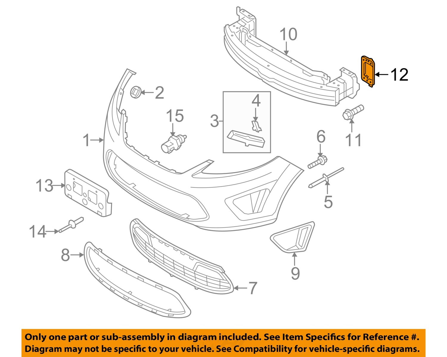ford e series front bumper diagram ford e series engine diagram ford oem 11-13 fiesta front bumper-mount bracket left ...