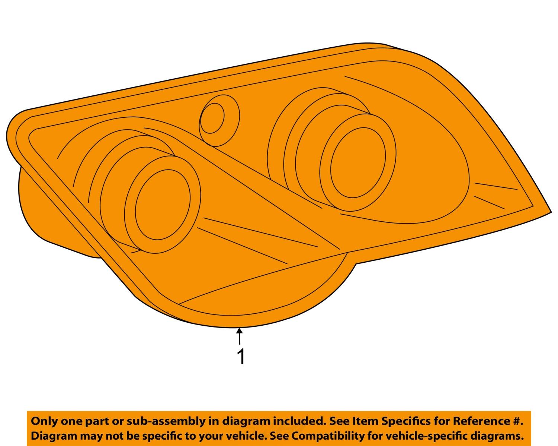 chrysler oem 04 08 crossfire headlight headlamp assembly. Black Bedroom Furniture Sets. Home Design Ideas
