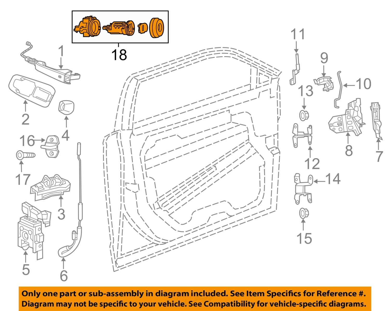 chrysler oem front door-lock cylinder 68085684aa | ebay diagram of 3 8 chrysler engine coolant