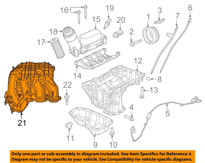 dodge chrysler oem 11 16 charger 3 6l v6 engine intake