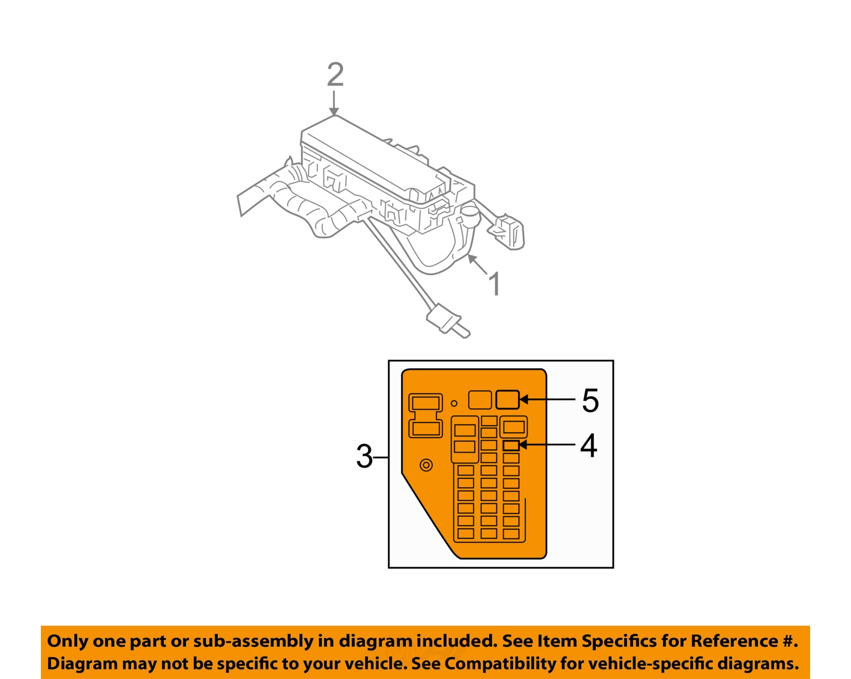 dodge chrysler oem 05 06 durango electrical fuse relay. Black Bedroom Furniture Sets. Home Design Ideas