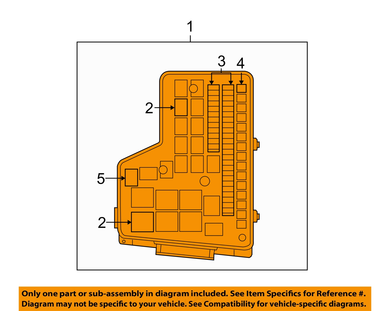 dodge chrysler 2009 ram 1500 5 7l v8 fuse box fuse relay box rl692123ag ebay