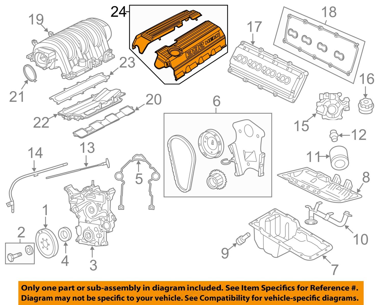 Purchase Dodge Chrysler Oem 11 15 Challenger 64l V8 Engine Cover Diagram Left 5038543ad