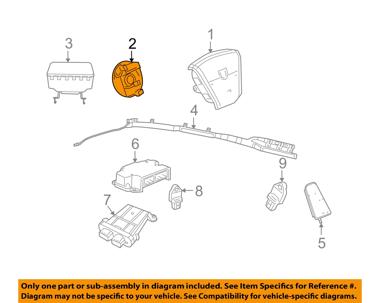 chrysler oem airbag air bag clockspring clock spring 5156106af chrysler oem airbag air bag clockspring clock spring 5156106af