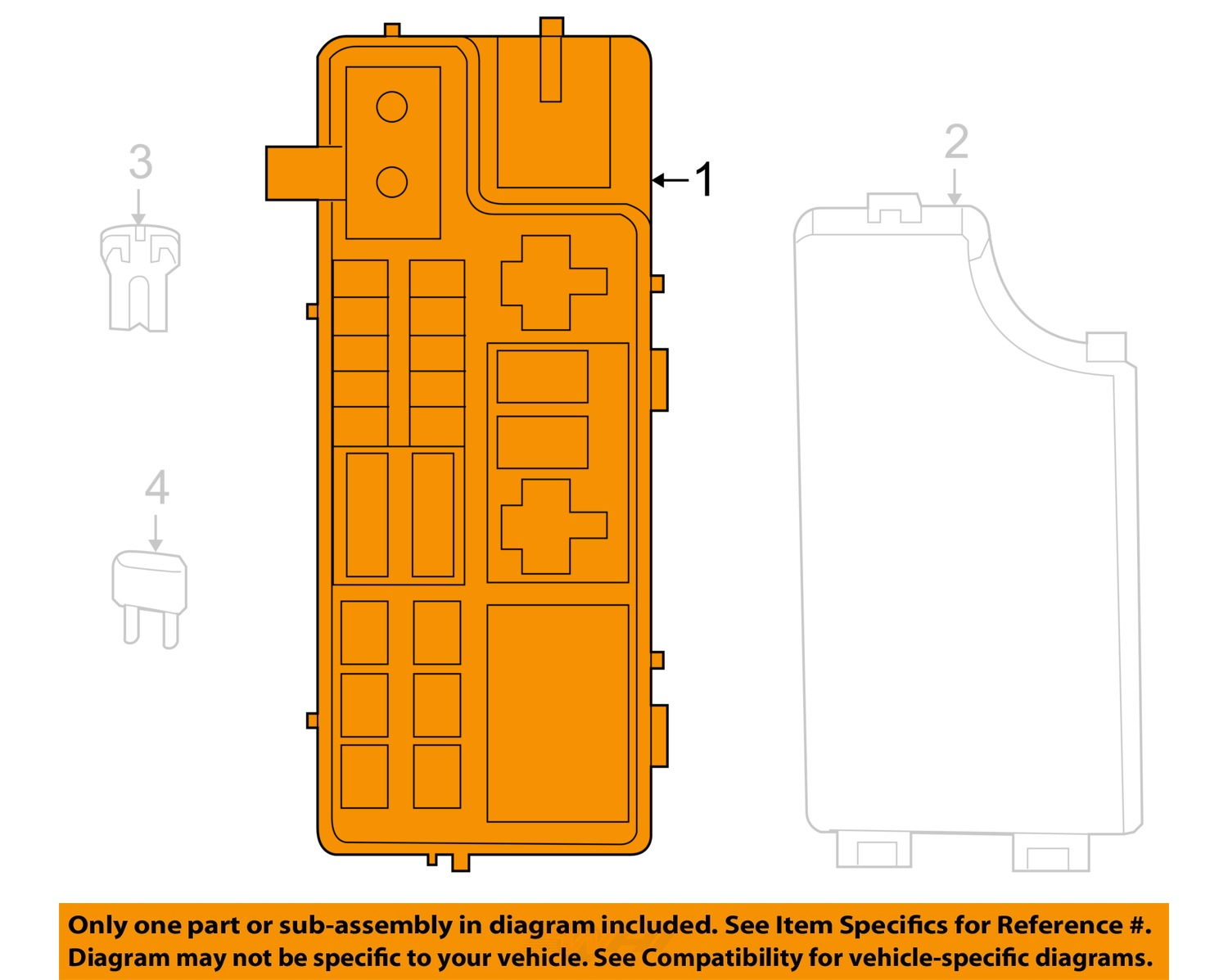 jeep chrysler oem 2007 compass 2.4l-l4 fuse box-module ... jeep compass fuse box diagram 2007 jeep compass fuse box diagram #6
