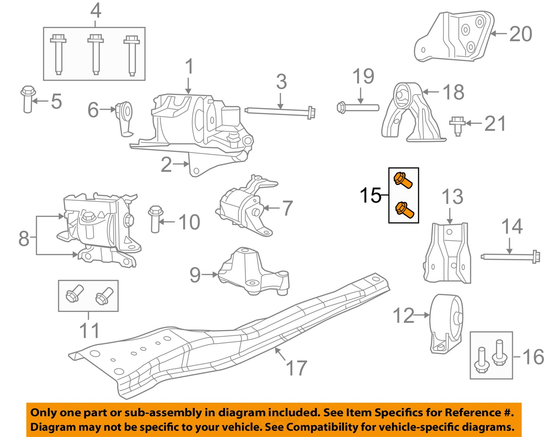 chrysler oem engine motor mount torque strut 5105495ag chrysler oem engine motor mount torque strut 5105495ag