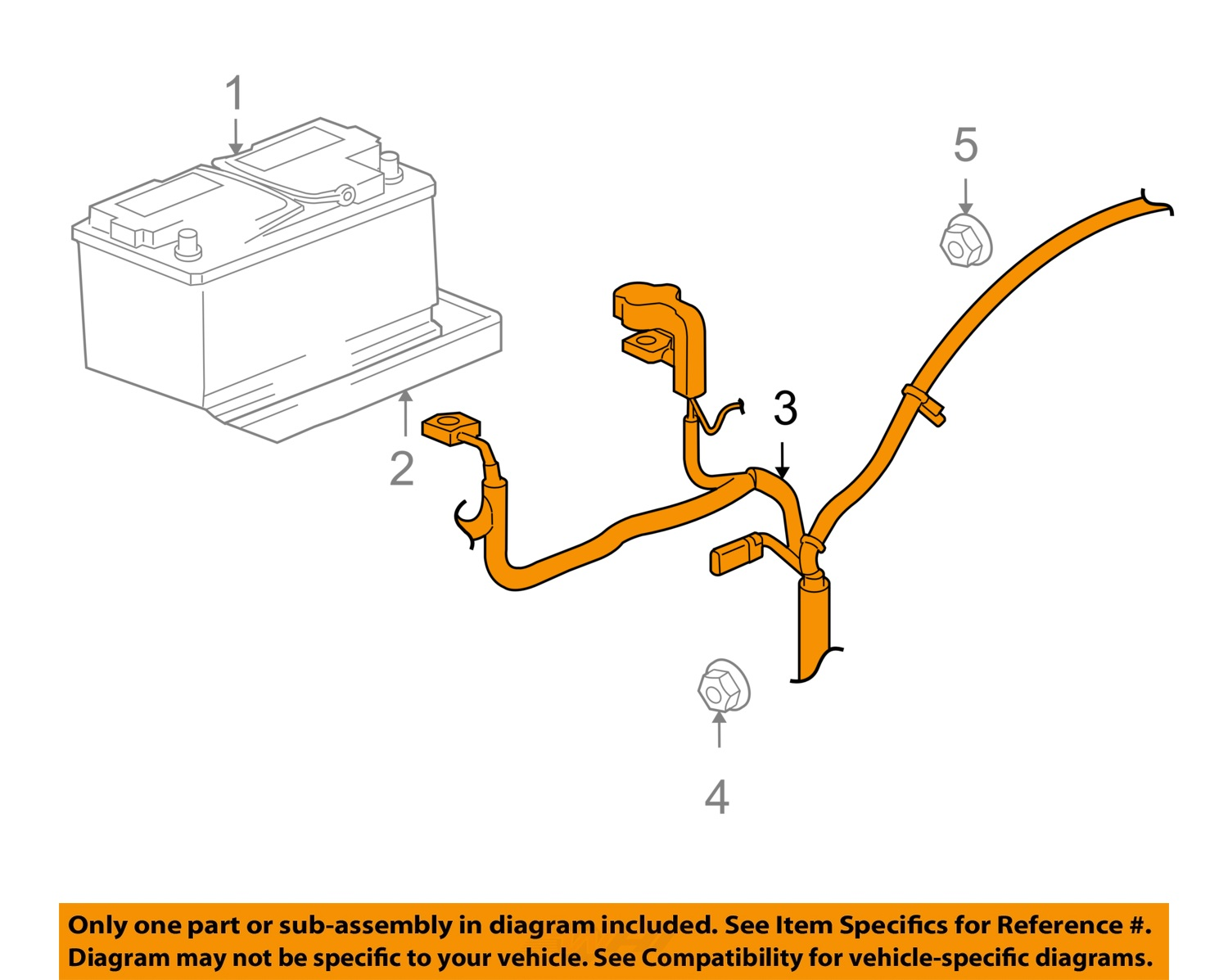 Jeep CHRYSLER OEM 07-08 Grand Cherokee Battery-Cable 56047793AF